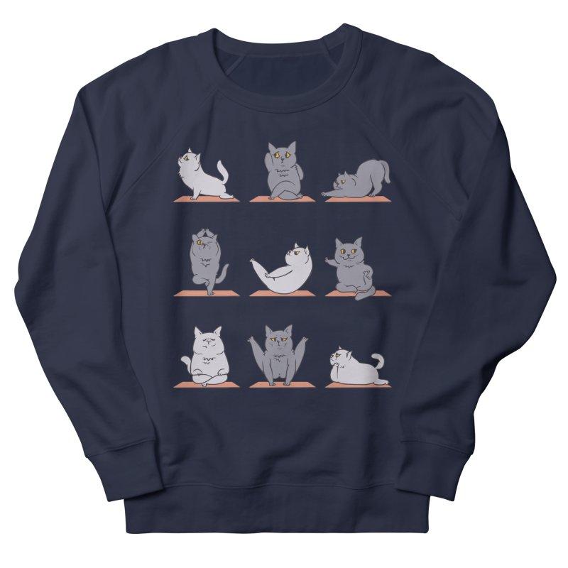 British Shorthair Cat Yoga Men's Sweatshirt by huebucket's Artist Shop