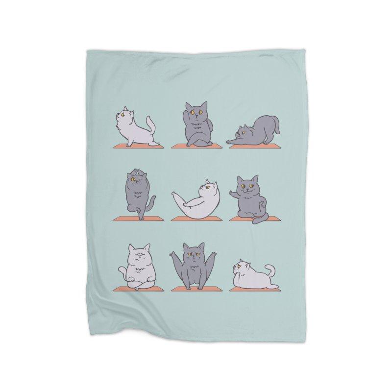 British Shorthair Cat Yoga Home Blanket by huebucket's Artist Shop