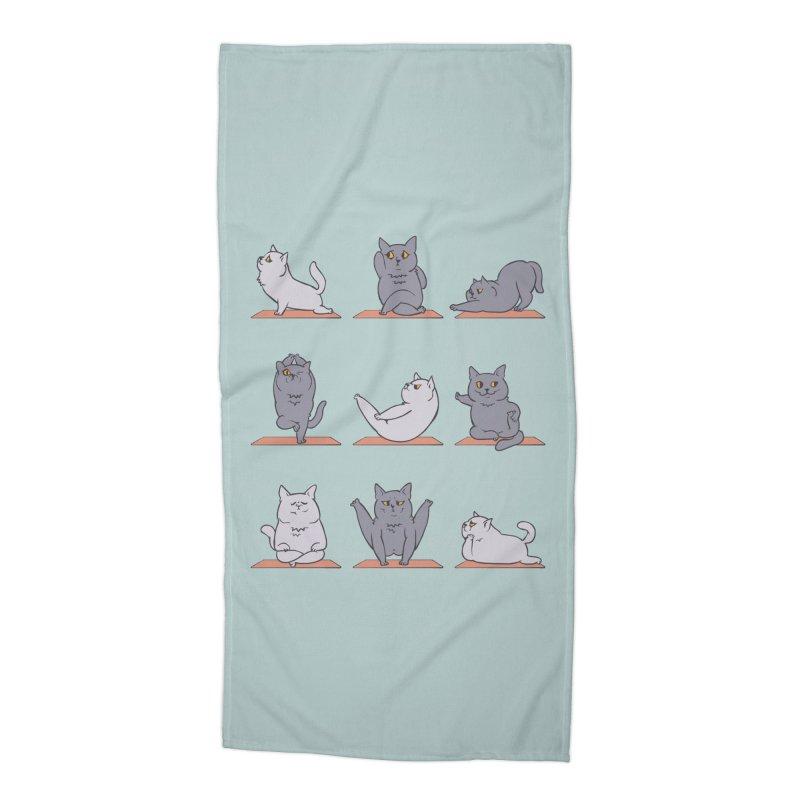 British Shorthair Cat Yoga Accessories Beach Towel by huebucket's Artist Shop