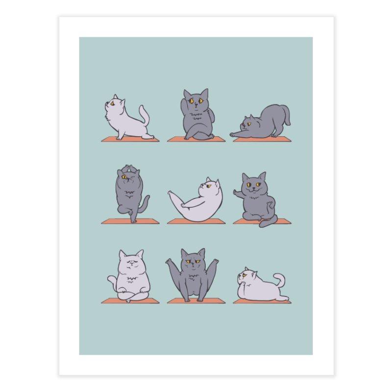 British Shorthair Cat Yoga Home Fine Art Print by huebucket's Artist Shop