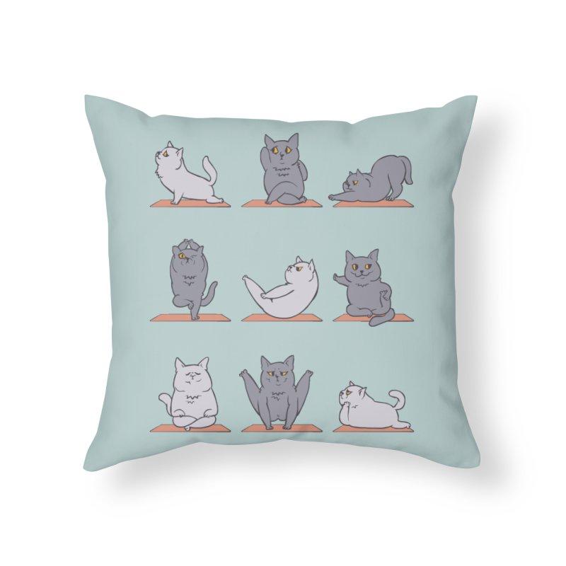 British Shorthair Cat Yoga Home Throw Pillow by huebucket's Artist Shop