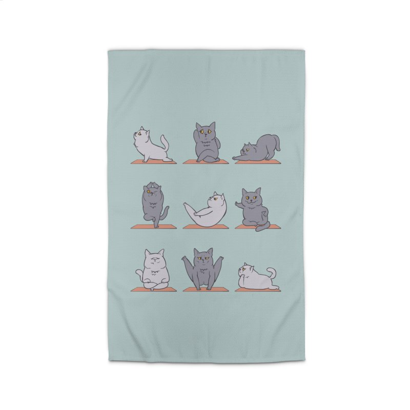 British Shorthair Cat Yoga Home Rug by huebucket's Artist Shop