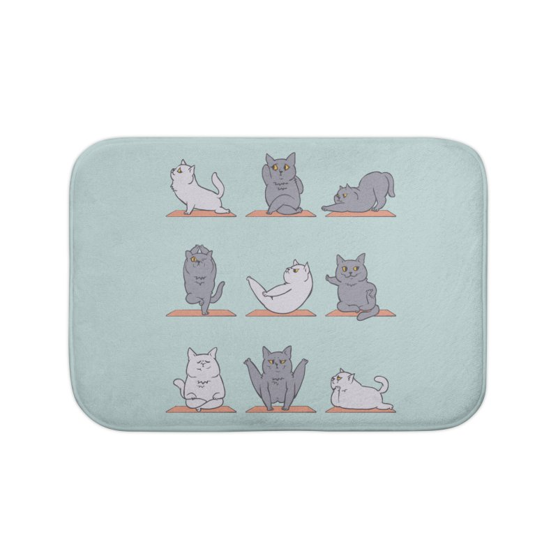 British Shorthair Cat Yoga Home Bath Mat by huebucket's Artist Shop