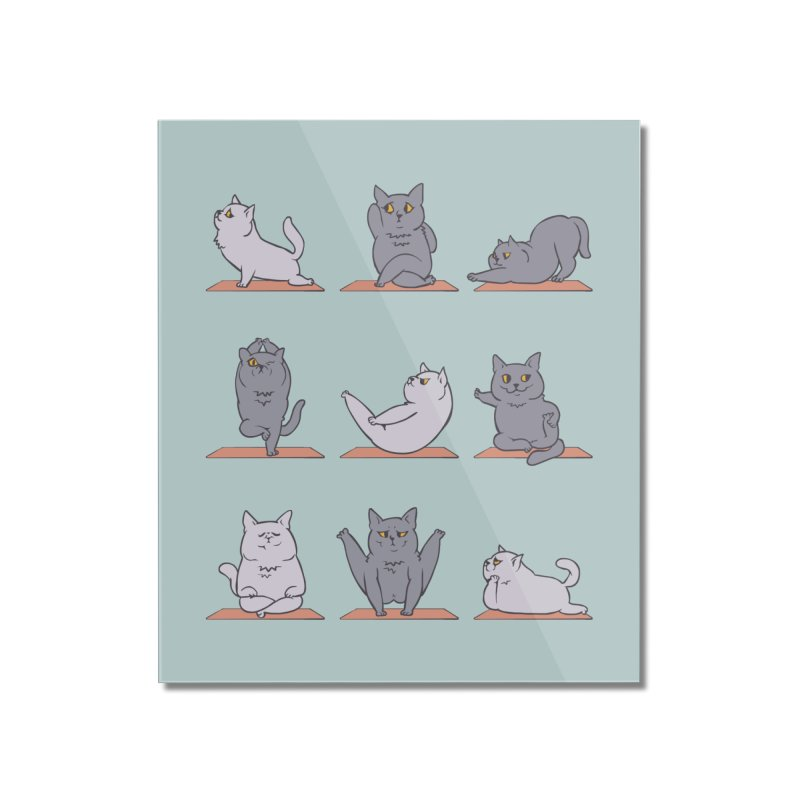 British Shorthair Cat Yoga Home Mounted Acrylic Print by huebucket's Artist Shop