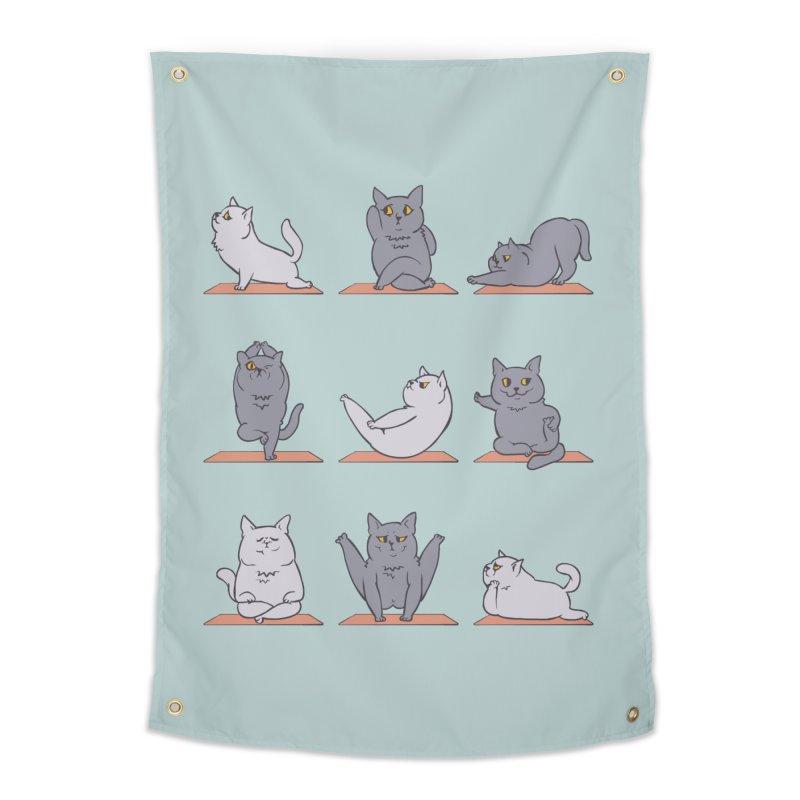 British Shorthair Cat Yoga Home Tapestry by huebucket's Artist Shop
