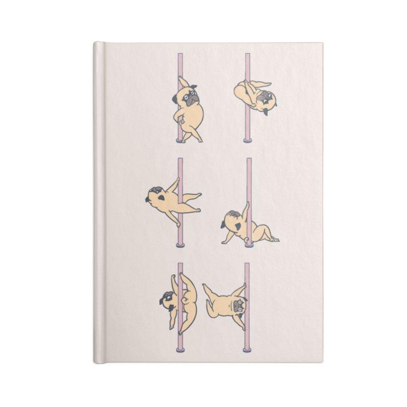 Pugs Pole Dancing Club Accessories Notebook by huebucket's Artist Shop