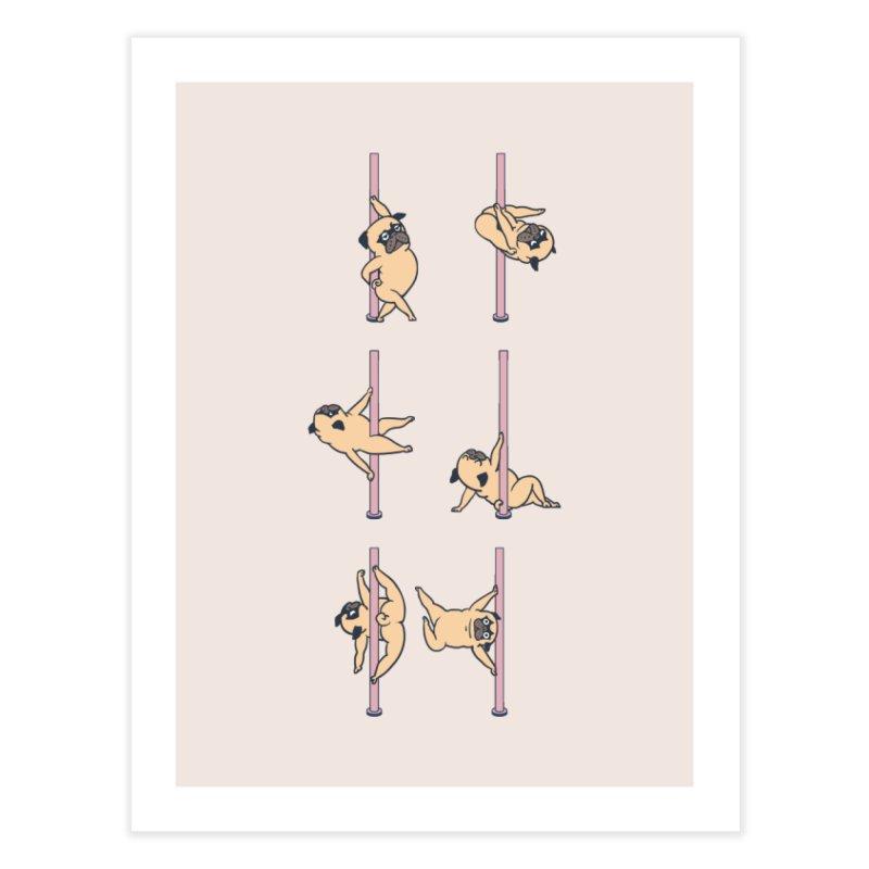Pugs Pole Dancing Club Home Fine Art Print by huebucket's Artist Shop
