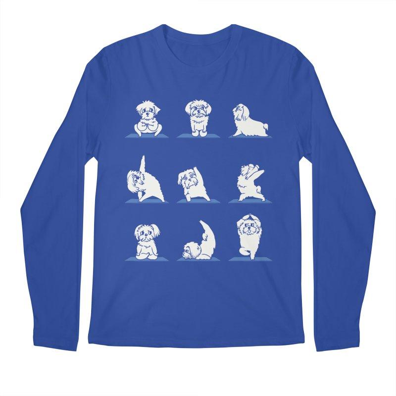 Maltese Yoga Men's Longsleeve T-Shirt by huebucket's Artist Shop
