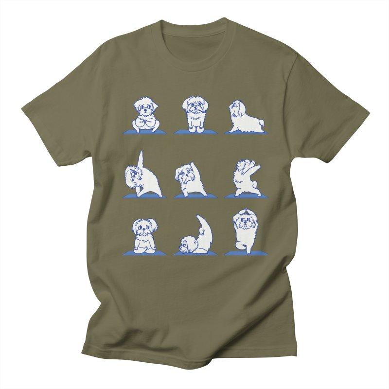 Maltese Yoga Men's T-Shirt by huebucket's Artist Shop