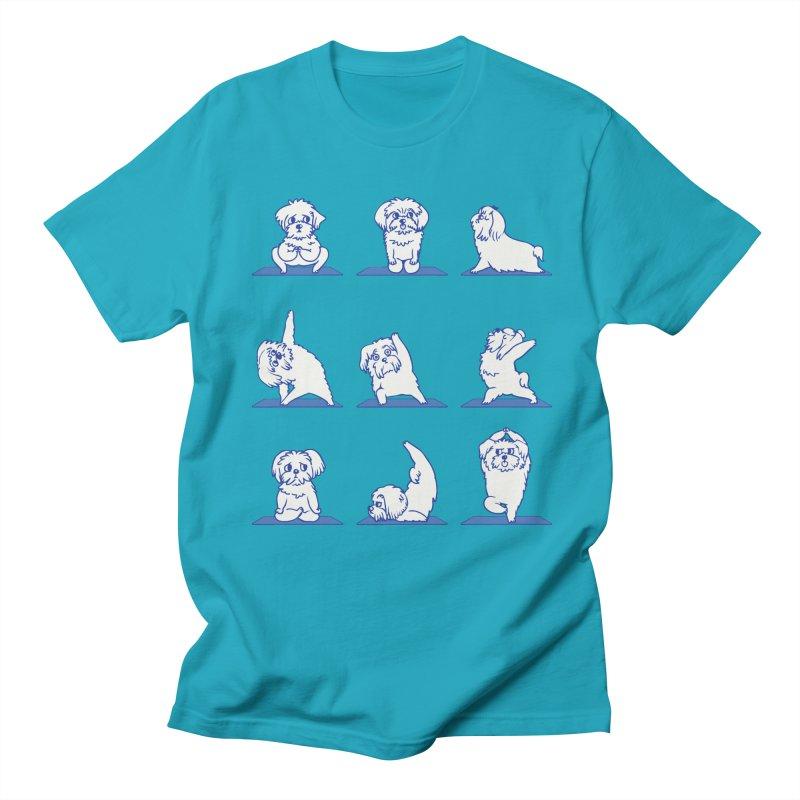 Maltese Yoga Women's Unisex T-Shirt by huebucket's Artist Shop