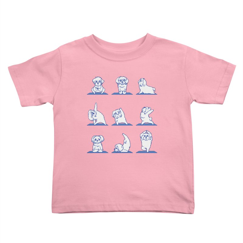 Maltese Yoga Kids Toddler T-Shirt by huebucket's Artist Shop