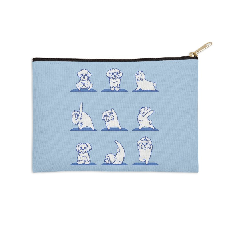 Maltese Yoga Accessories Zip Pouch by huebucket's Artist Shop
