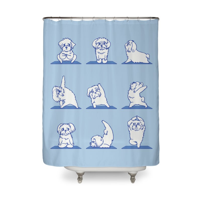 Maltese Yoga Home Shower Curtain by huebucket's Artist Shop