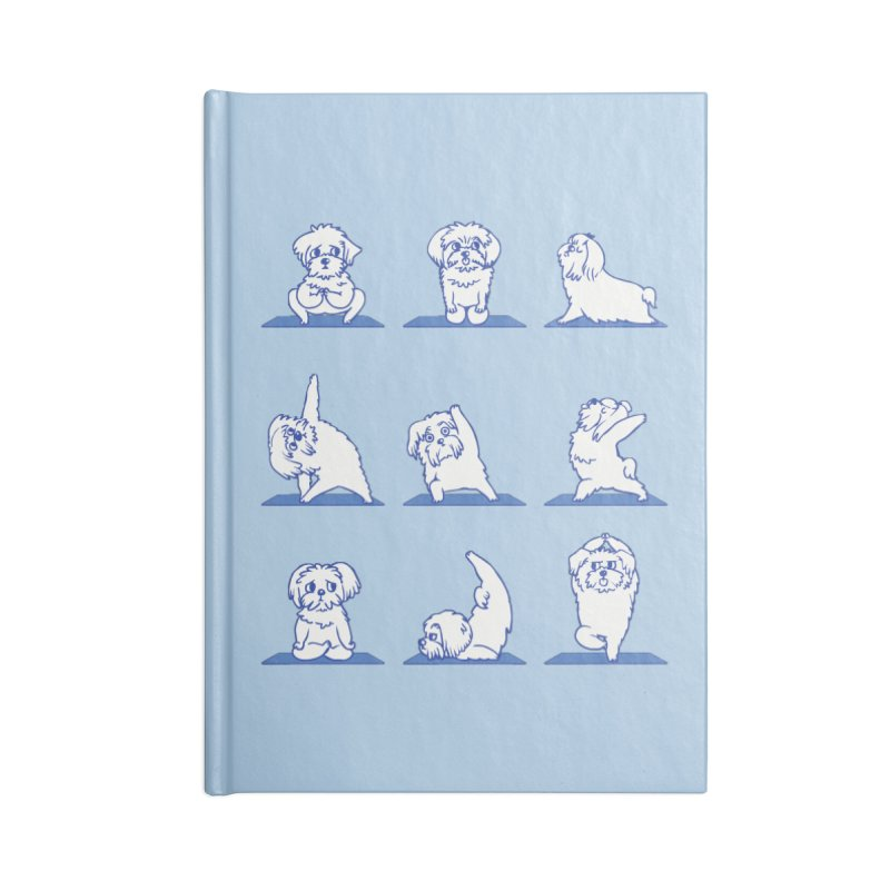 Maltese Yoga Accessories Notebook by huebucket's Artist Shop
