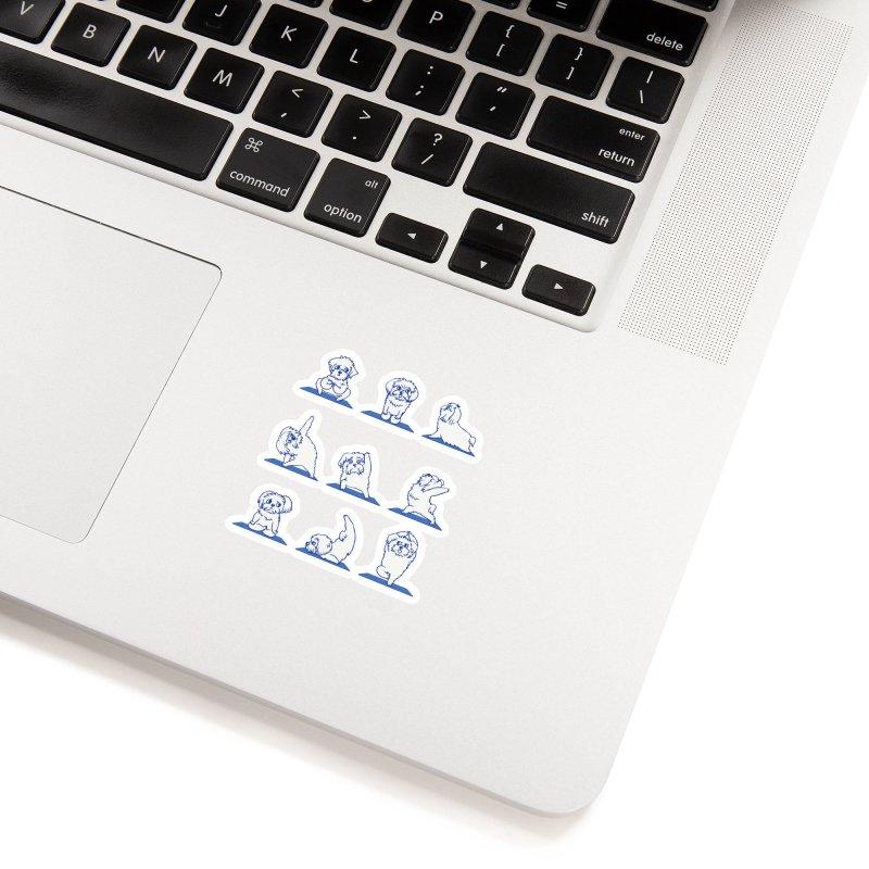 Maltese Yoga Accessories Sticker by huebucket's Artist Shop