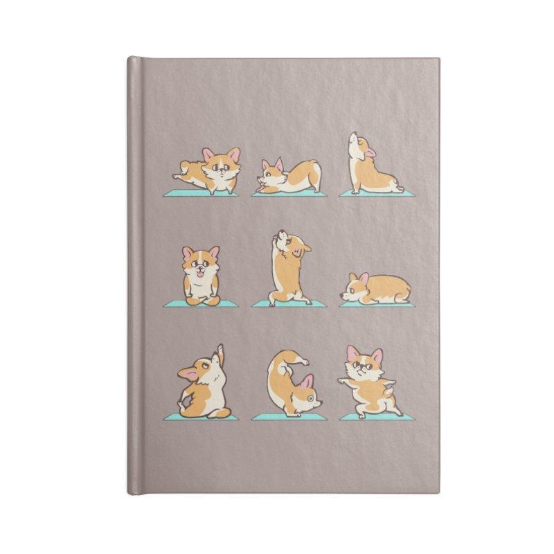 Corgi Yoga Accessories Notebook by huebucket's Artist Shop