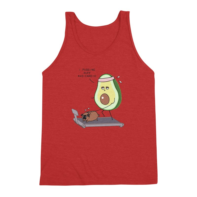 I PUGGING RUFF AVOCARDIO Men's Triblend Tank by huebucket's Artist Shop