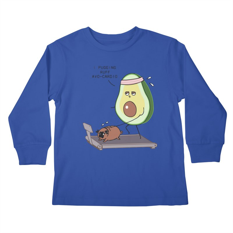 I PUGGING RUFF AVOCARDIO Kids Longsleeve T-Shirt by huebucket's Artist Shop