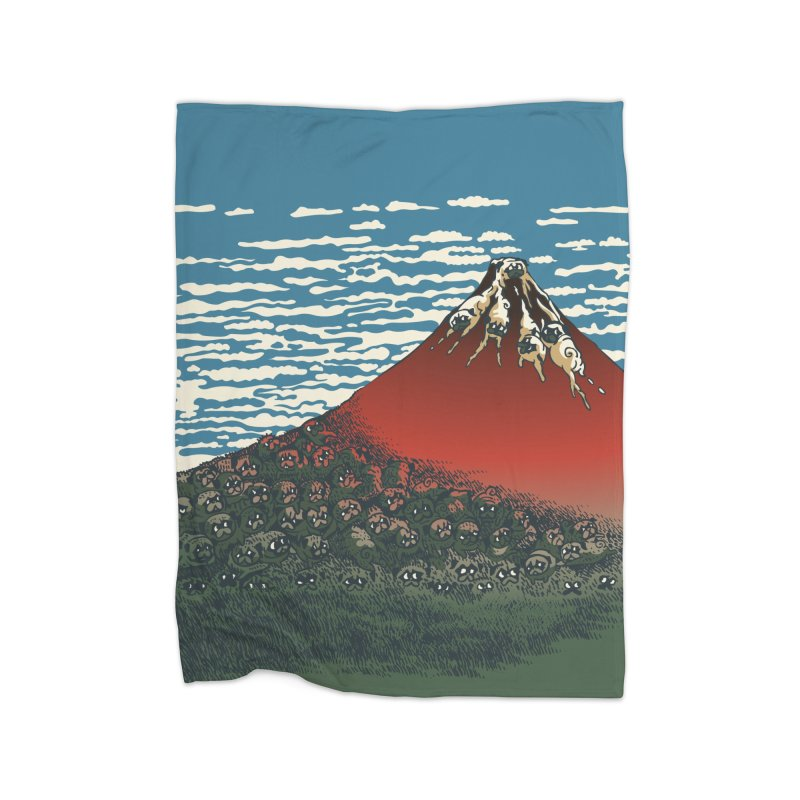 Mount Pugs Fuji Home Blanket by huebucket's Artist Shop