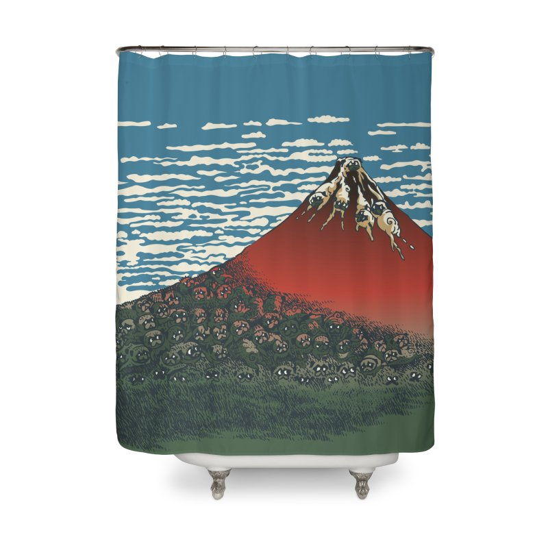 Mount Pugs Fuji Home Shower Curtain by huebucket's Artist Shop