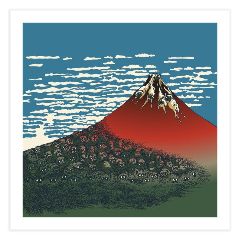 Mount Pugs Fuji Home Fine Art Print by huebucket's Artist Shop