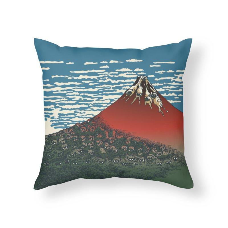 Mount Pugs Fuji Home Throw Pillow by huebucket's Artist Shop