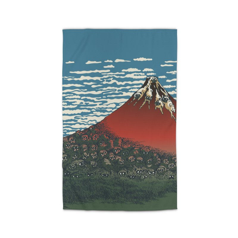 Mount Pugs Fuji Home Rug by huebucket's Artist Shop