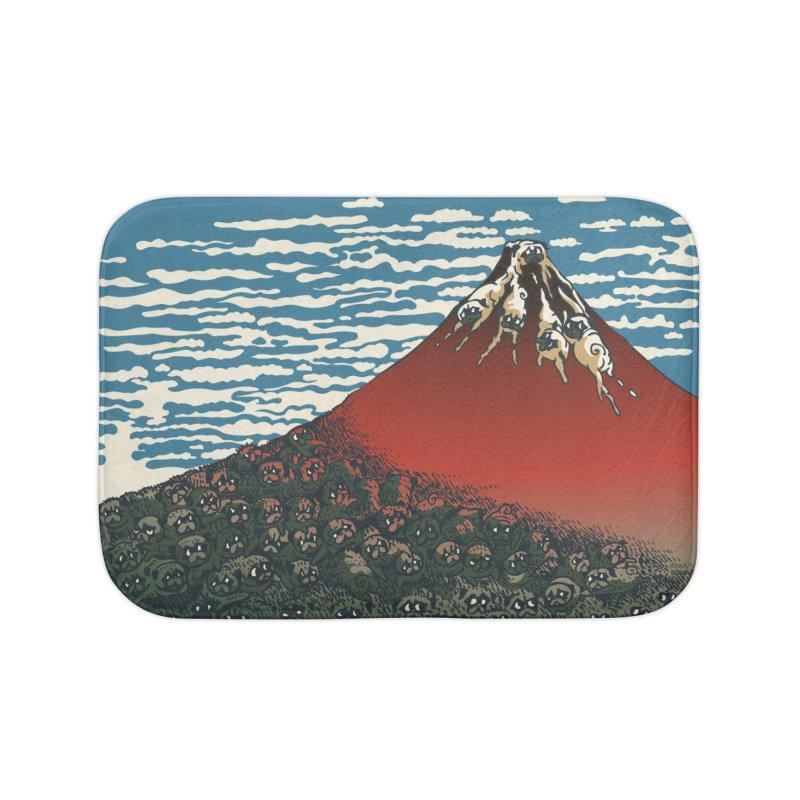 Mount Pugs Fuji Home Bath Mat by huebucket's Artist Shop