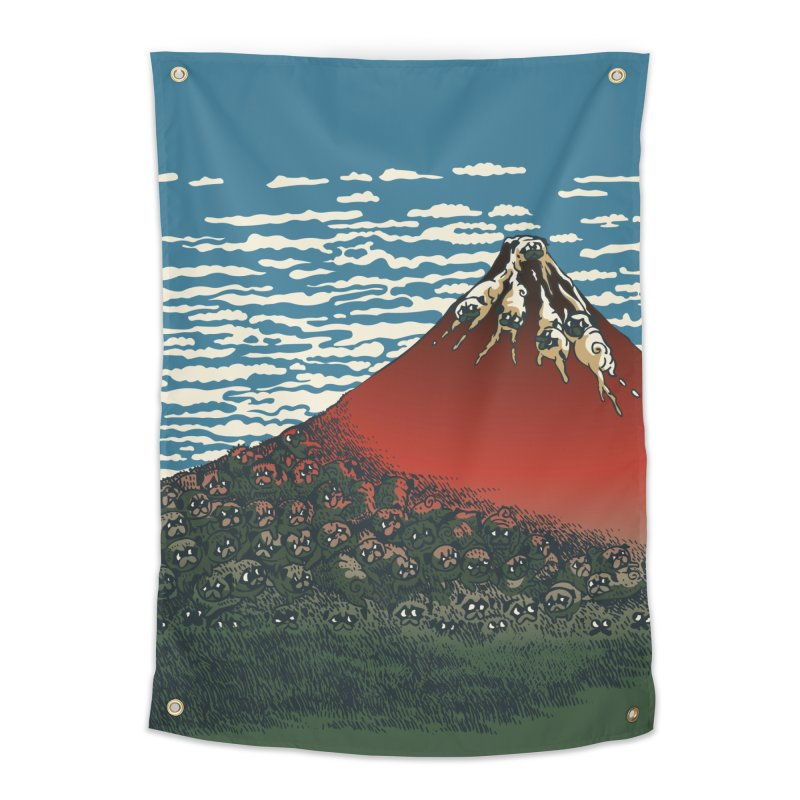 Mount Pugs Fuji Home Tapestry by huebucket's Artist Shop