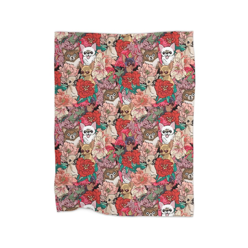 Because Chihuahua Home Blanket by huebucket's Artist Shop