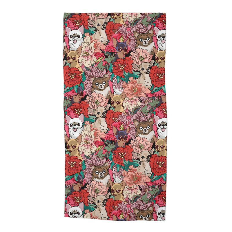 Because Chihuahua Accessories Beach Towel by huebucket's Artist Shop