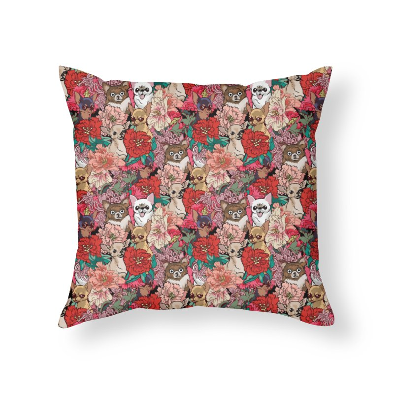 Because Chihuahua Home Throw Pillow by huebucket's Artist Shop