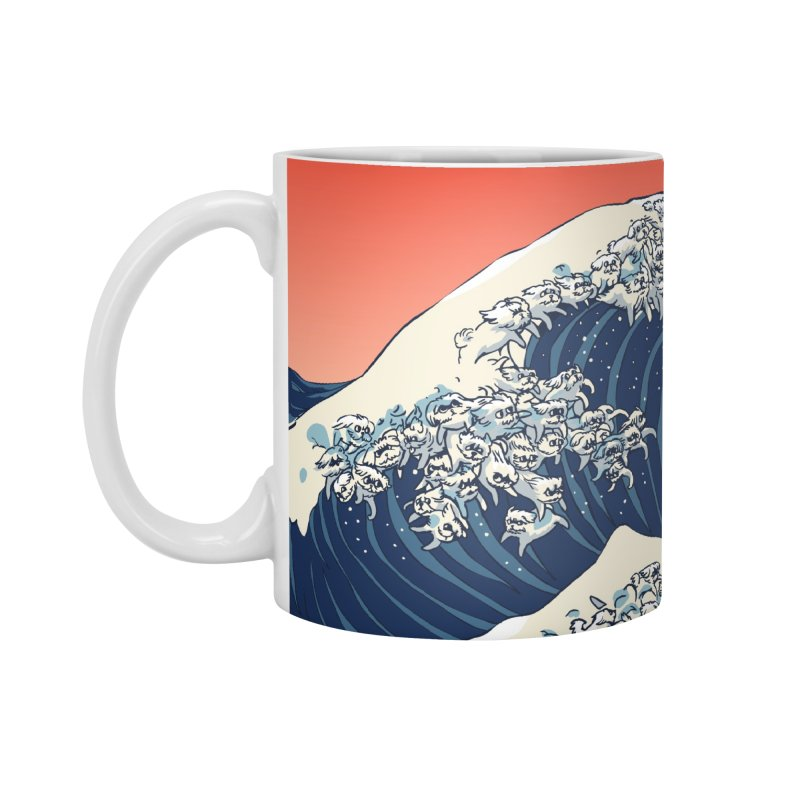 The Great Wave of Maltese Accessories Mug by huebucket's Artist Shop
