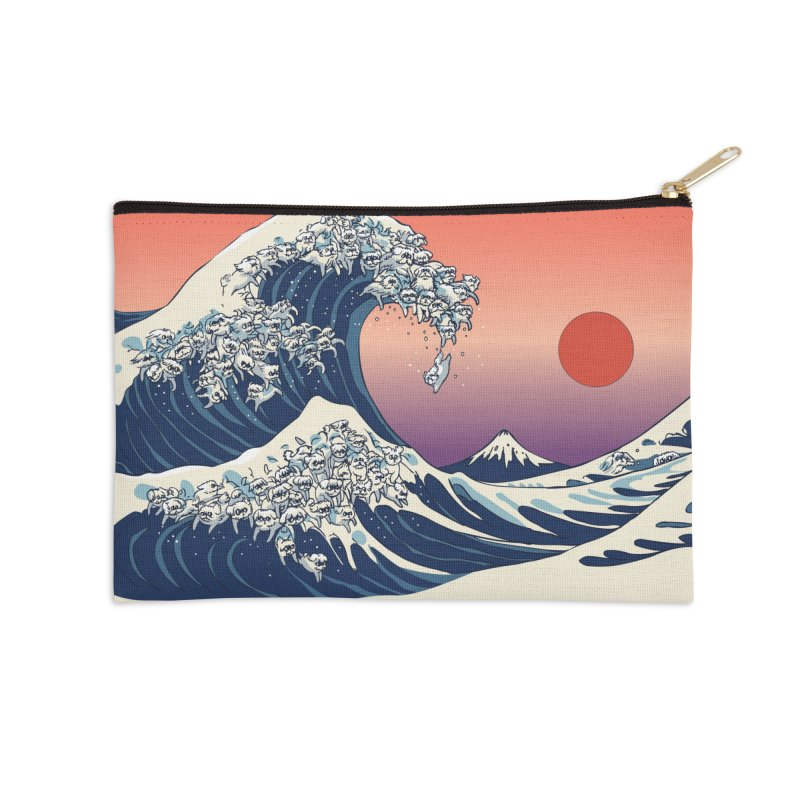 The Great Wave of Maltese Accessories Zip Pouch by huebucket's Artist Shop