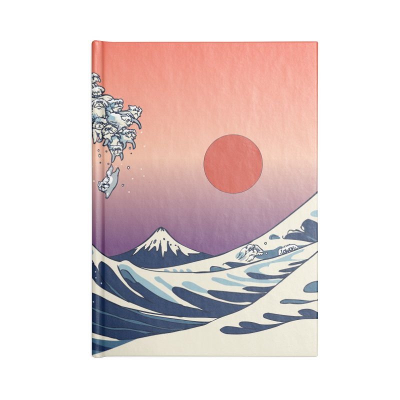 The Great Wave of Maltese Accessories Notebook by huebucket's Artist Shop