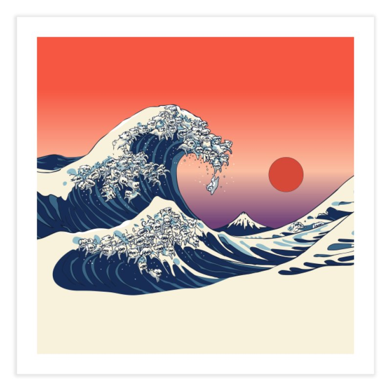 The Great Wave of Maltese Home Fine Art Print by huebucket's Artist Shop