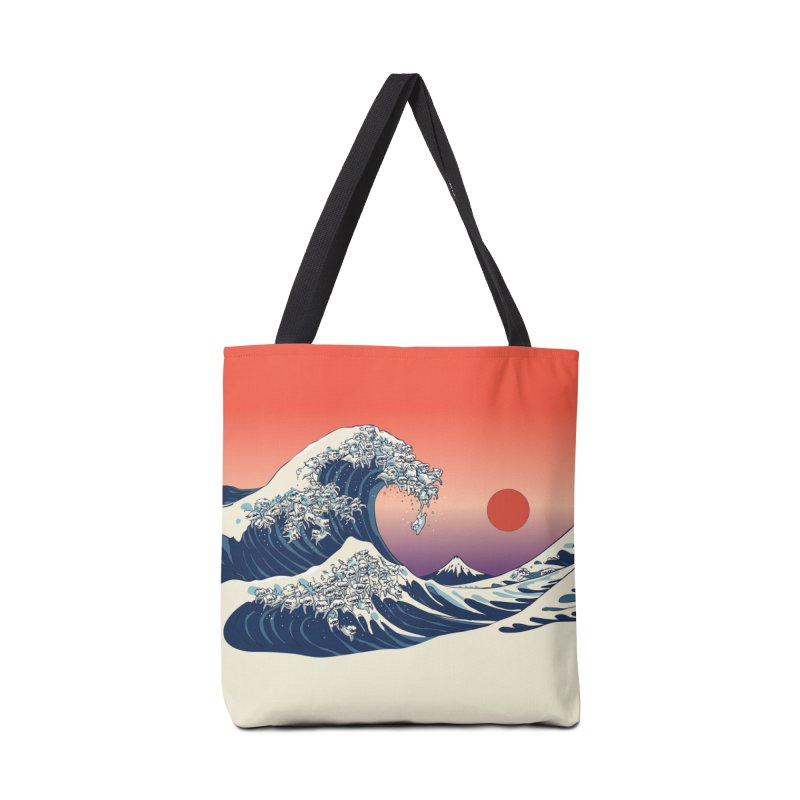 The Great Wave of Maltese Accessories Bag by huebucket's Artist Shop