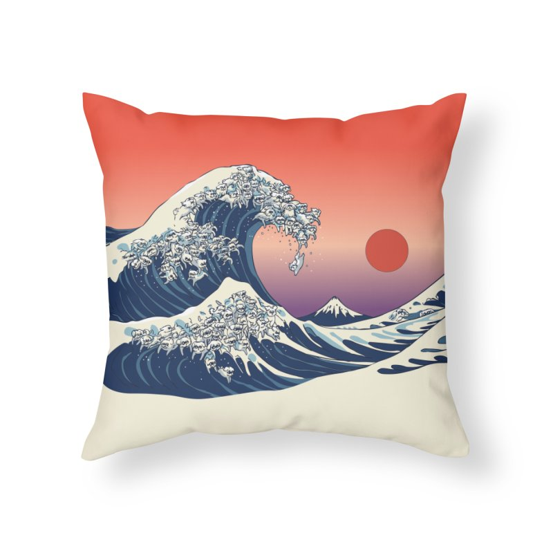 The Great Wave of Maltese Home Throw Pillow by huebucket's Artist Shop