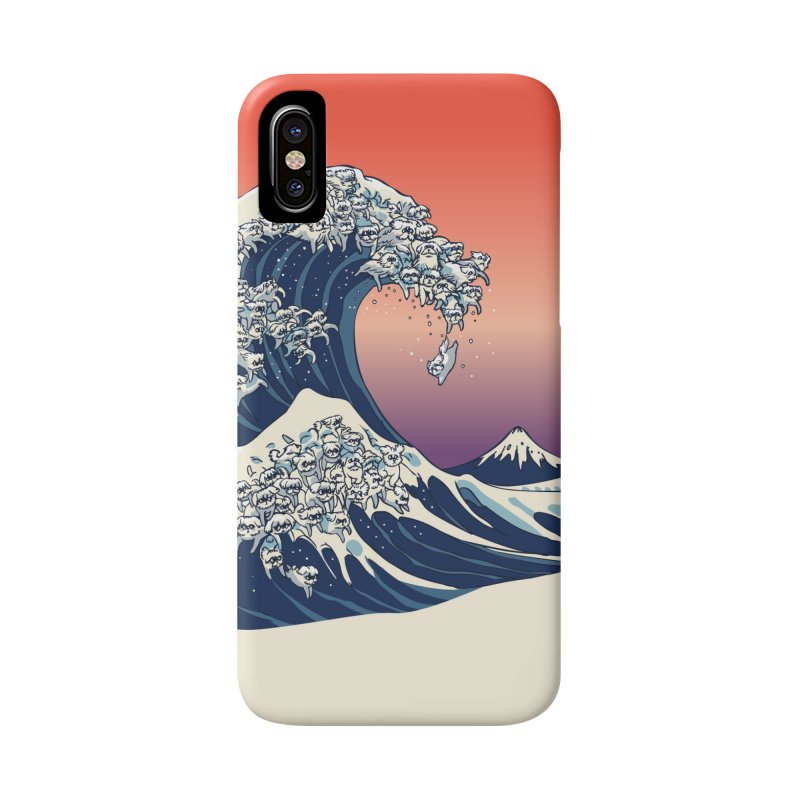 The Great Wave of Maltese Accessories Phone Case by huebucket's Artist Shop