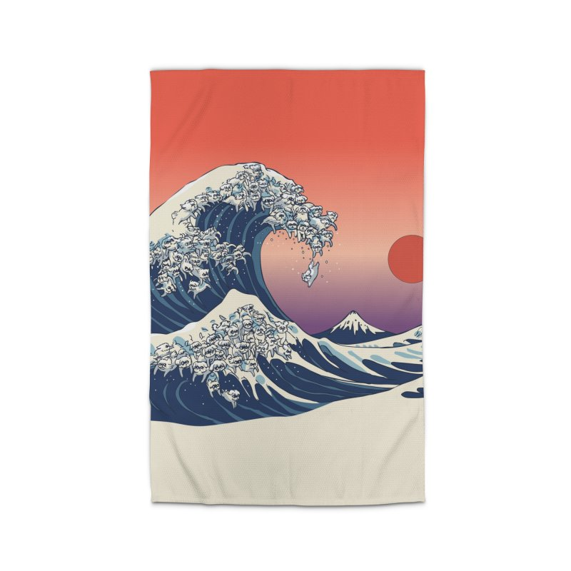 The Great Wave of Maltese Home Rug by huebucket's Artist Shop