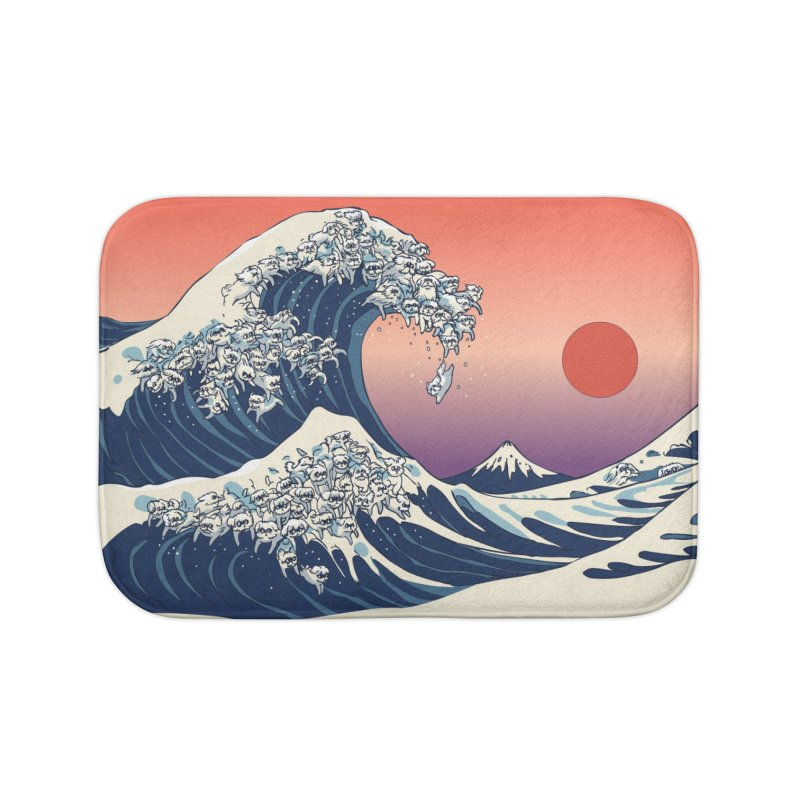 The Great Wave of Maltese Home Bath Mat by huebucket's Artist Shop