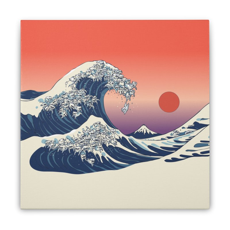 The Great Wave of Maltese Home Stretched Canvas by huebucket's Artist Shop