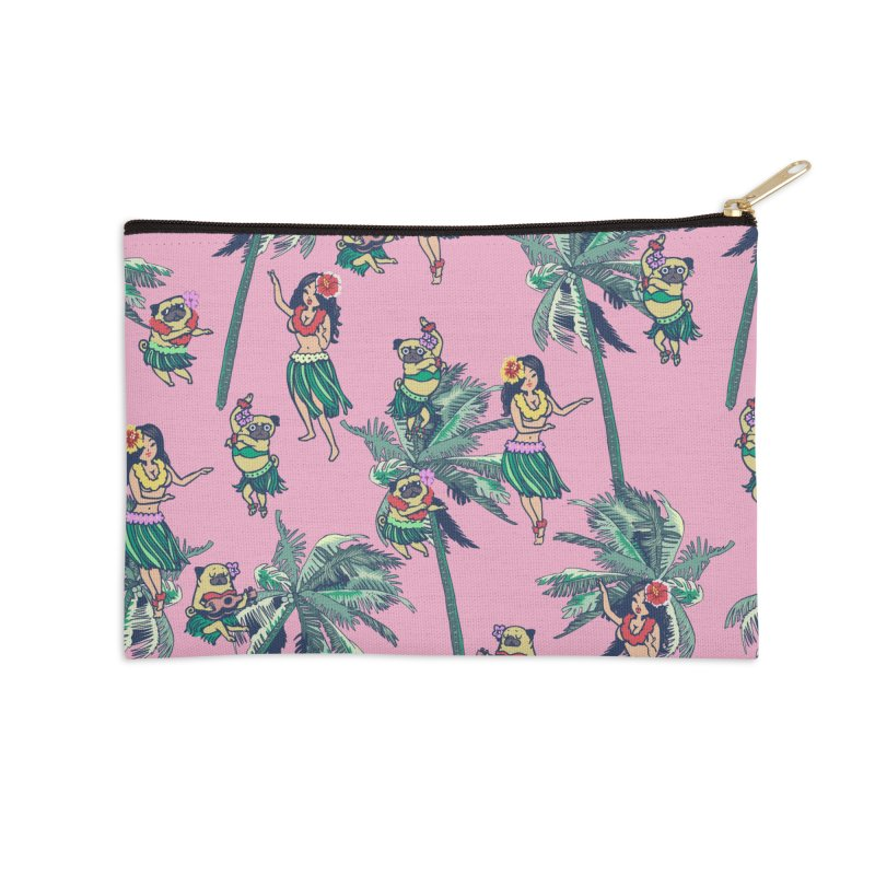 Hawaii Hula with The Pug Accessories Zip Pouch by huebucket's Artist Shop