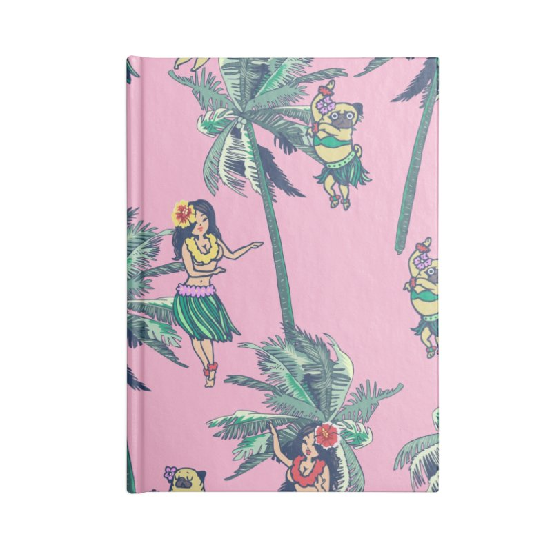 Hawaii Hula with The Pug Accessories Notebook by huebucket's Artist Shop