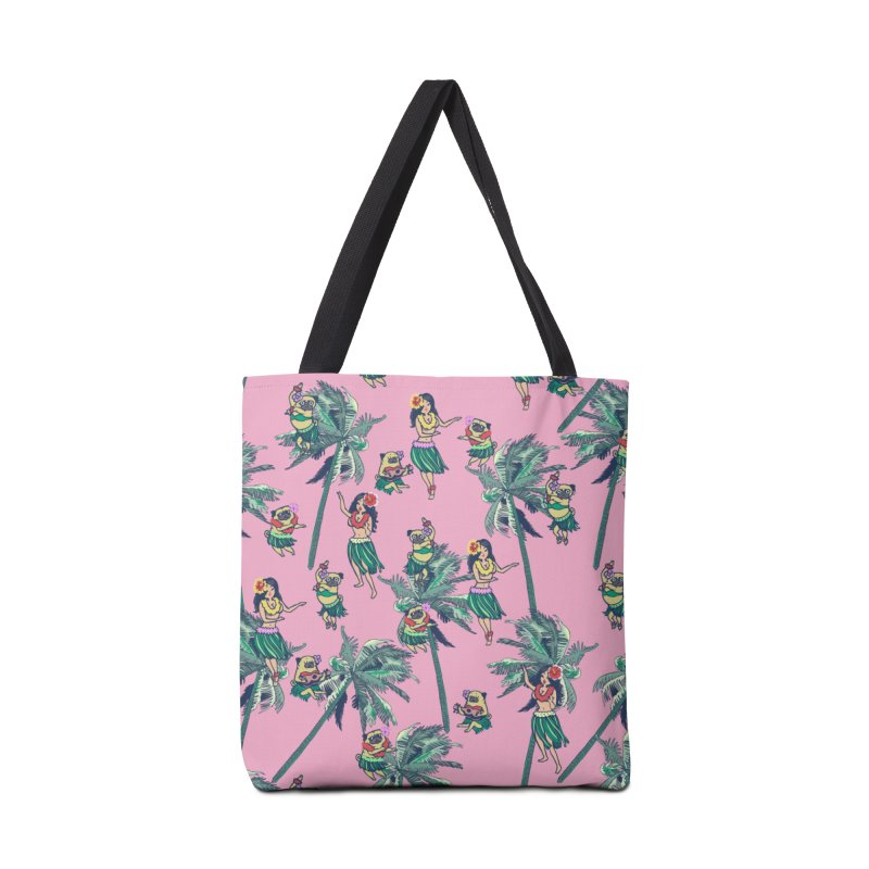 Hawaii Hula with The Pug Accessories Bag by huebucket's Artist Shop