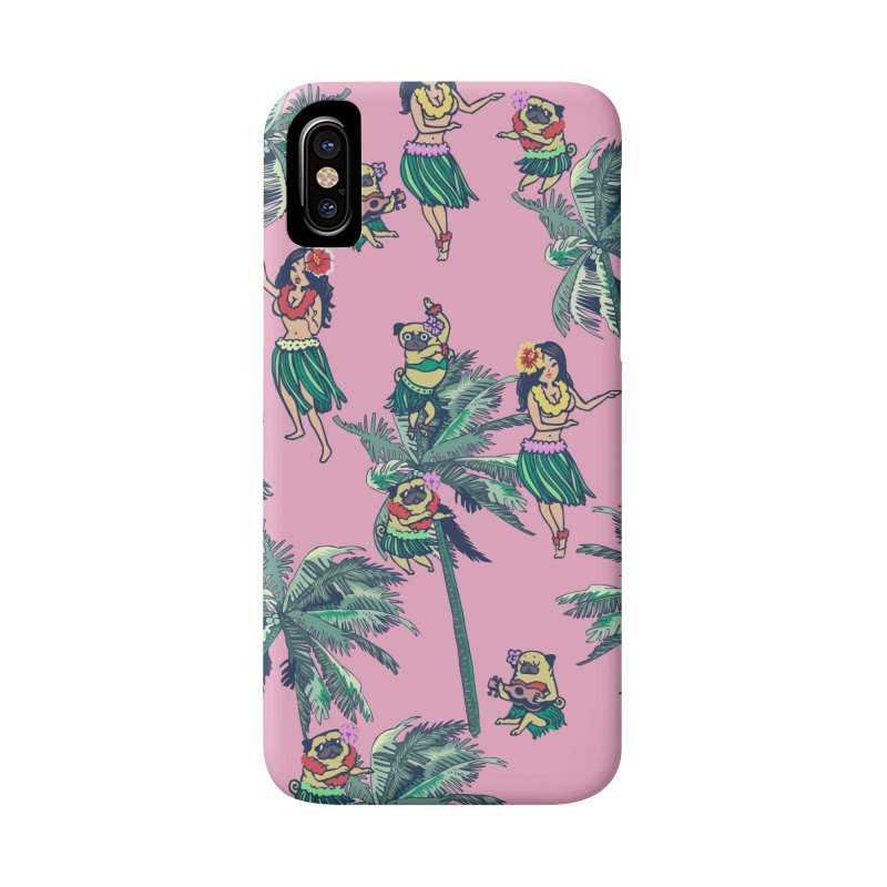 Hawaii Hula with The Pug Accessories Phone Case by huebucket's Artist Shop