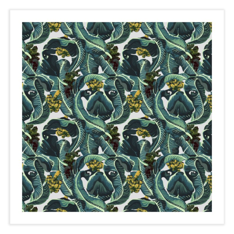 Banana Pugs Home Fine Art Print by huebucket's Artist Shop