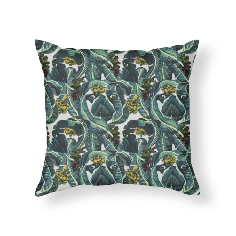 Banana Pugs Home Throw Pillow by huebucket's Artist Shop