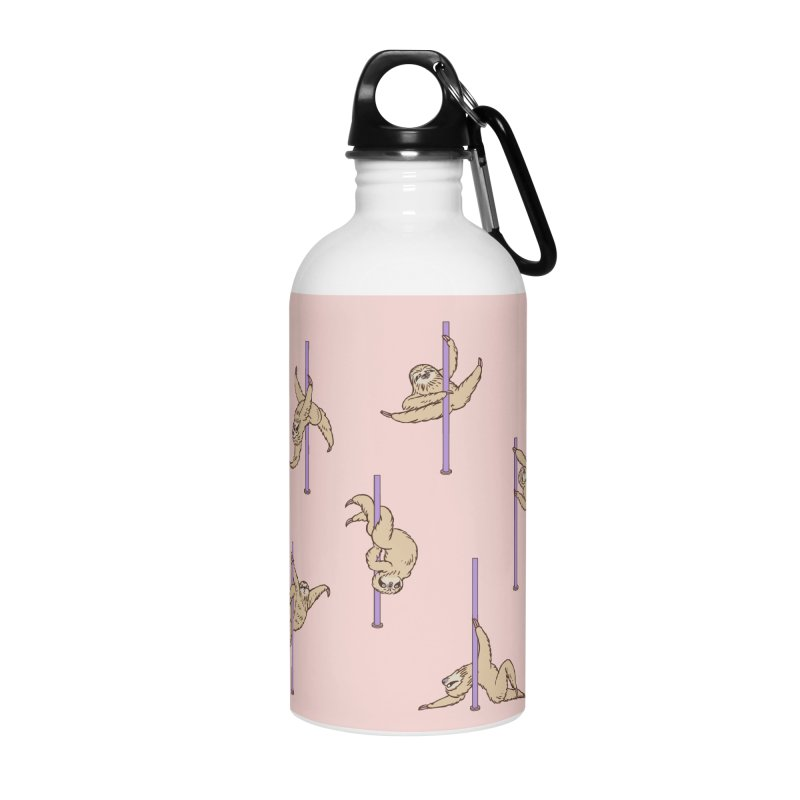 Sloths Pole Dancing Club Accessories Water Bottle by huebucket's Artist Shop