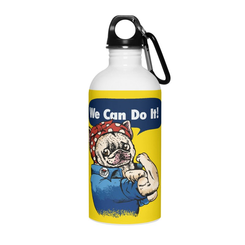 We Can Do It French Bulldog Accessories Water Bottle by huebucket's Artist Shop